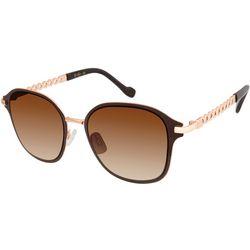 Jessica Simpson Womens Square Enamel Rim Sunglasses