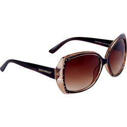Southpole Womens Glam Rhinestone Sunglasses