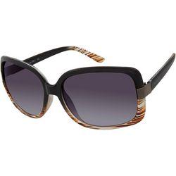 Tahari Womens Black Brown Ombre Sunglasses