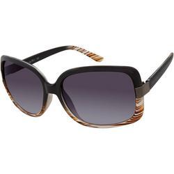 Womens Black Brown Ombre Sunglasses