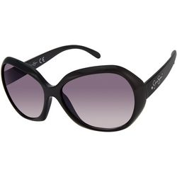 Jessica Simpson Womens Round Black Sunglasses
