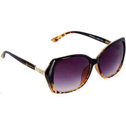 Southpole Womens Oversized Ombre Tortoiseshell Sunglasses