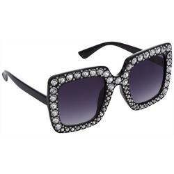 Womens Oversized Jeweled Sunglasses