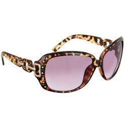 Southpole Womens Rhinestones Tortoise Brown Sunglasses