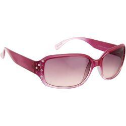 Unionbay Womens Rhinestone Rectangle Sunglasses