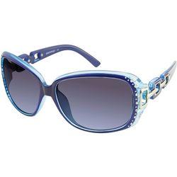 Southpole Womens Rhinestone Link Blue Sunglasses