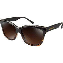Unionbay Womens Rhinestone Tortoise Brown Sunglasses