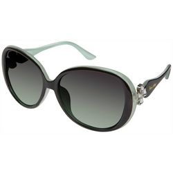 Unionbay Womens Two Tone Round Sunglasses