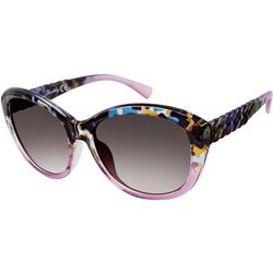 Unionbay Womens Animal Print Braided Sunglasses