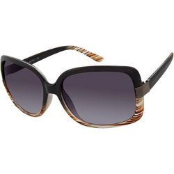 Tahari Womens Black Brown Ombre Sunglasses