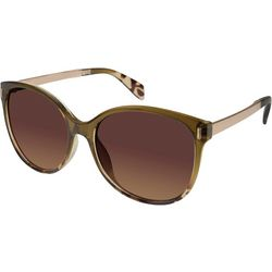 Tahari Womens Olive Tortoise Print Sunglasses