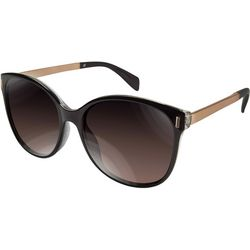 Tahari Womens Black & Gold Tone Sunglasses