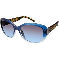 Tahari Womens Blue & Tortoise Print Sunglasses