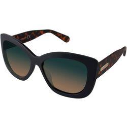 Womens Black Tortoise Print Sunglasses