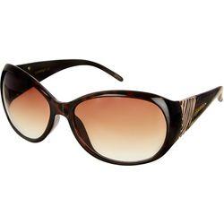 Southpole Womens Wide Oval Tortoise Sunglasses