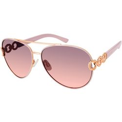 Southpole Womens Pink Aviator Sunglasses