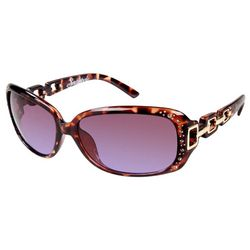 Southpole Womens Chain Link Sunglasses