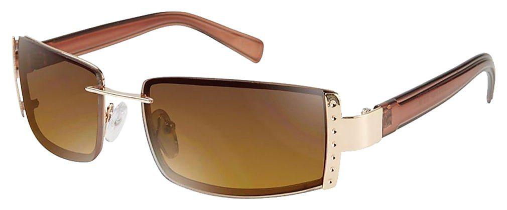 fa6a20d0a0 Southpole Womens Gold Tone Rectangle Sunglasses One Size Gold tone ...