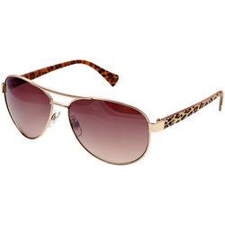 Betsey Johnson Womens Printed Aviator Sunglasses