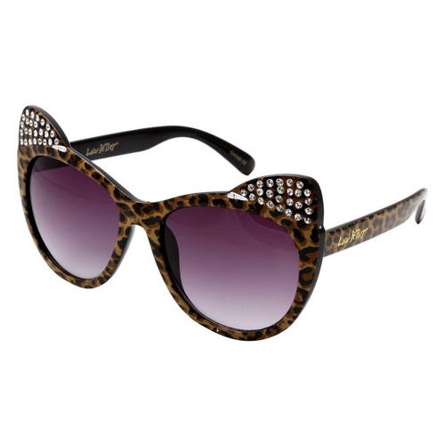 2e60bfe5d3fe Betsey Johnson Womens Cat-Style Sunglasses