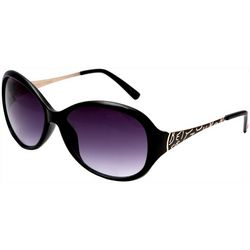 Betsey Johnson Womens Large Oval Side Detail Sunglasses