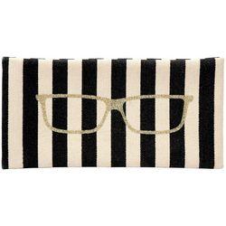 Steve Madden Womens Striped Sunglasses Case