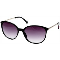 Betsey Johnson Womens Oval Metal Temple Sunglasses