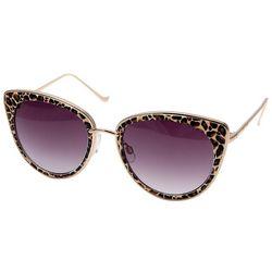 Betsey Johnson Womens Leopard Print Cat Eye Sunglasses