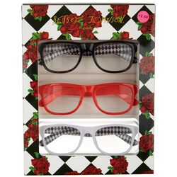 Betsey Johnson Womens 3-pk. Diamond & Solid Reading Glasses