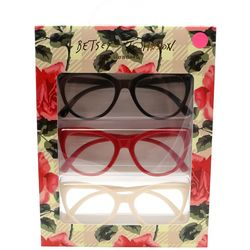 Betsey Johnson Womens 3-pk. Budding Flower Reading Glasses