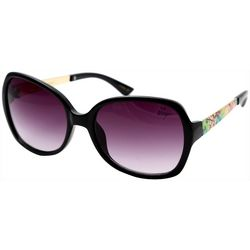 Betsey Johnson Womens Floral Pattern Square Sunglasses
