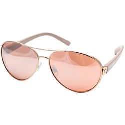 Madden Girl Womens Rose Gold Tone Aviator Sunglasses