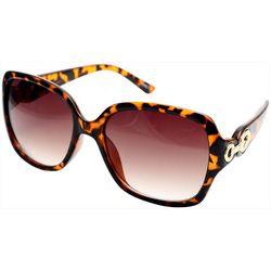Steve Madden Womens Square Chain Detail Sunglasses