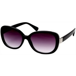 Steve Madden Womens Square Metal Trim Sunglasses