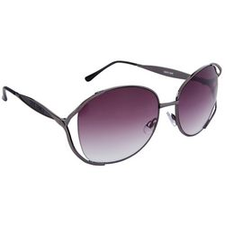 Steve Madden Womens Metal Oval Sunglasses