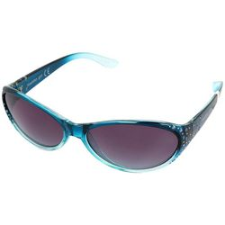 Madden Girl Womens Oval Rhinestone Sunglasses