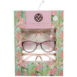 Macbeth Womens 3-pk. Cat Eye Reading Glasses
