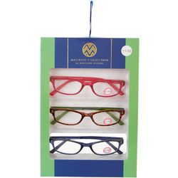 Macbeth Womens 3-pk. Premium Reading Glasses