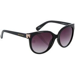Jones New York Womens Black Gold Cat Eye Sunglasses
