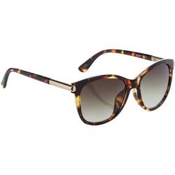 Womens Oblong Tortoise Shell Sunglasses