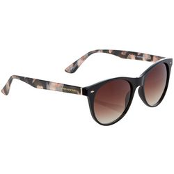 Jones New York Womens Black Pink Tortoise Shell Sunglasses