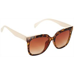 Jones New York Womens Large Square Tortoise Sunglasses