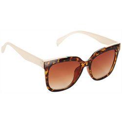 Jones New York Womens Large Square Tortoise Sunglasses