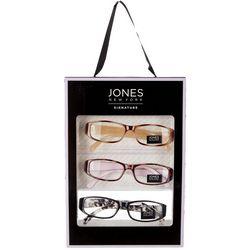 Jones New York Womens 3 Pc. Square Reading Glasses Box Set