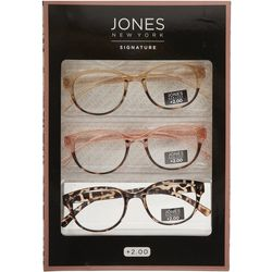 Jones New York Womens 3 Pc. Reading Glasses