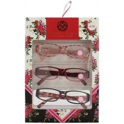 Macbeth Womens 3-pk. Floral Reading Glasses