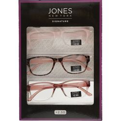 Jones New York Womens Reading Glasses 3 Pc. Set