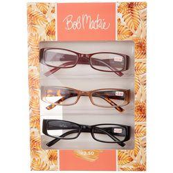 Bob Mackie Womens 3 Pc. Palm Reading Glasses  Set