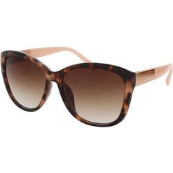 Jones New York Womens Blush Pink Tortoise Brown Sunglasses