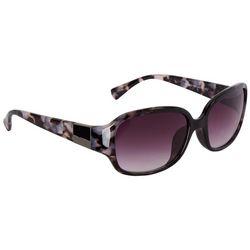 Jones New York Womens Granite Rectangular Sunglasses